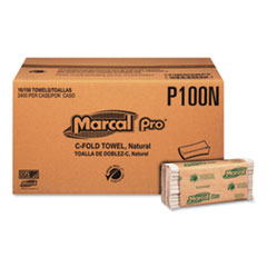 MRC P100N Marcal PRO 100% Recycled Folded Paper Towels MRCP100N