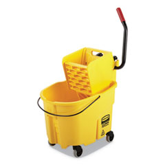 RCP FG758088YEL Rubbermaid Commercial WaveBrake 2.0 Bucket/Wringer Combos RCPFG758088YEL