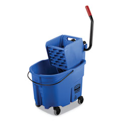 RCP FG758888BLUE Rubbermaid Commercial WaveBrake 2.0 Bucket/Wringer Combos RCPFG758888BLUE