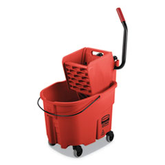 RCP FG758888RED Rubbermaid Commercial WaveBrake 2.0 Bucket/Wringer Combos RCPFG758888RED