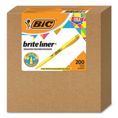 Brite Liner Highlighter, Chisel Tip, Yellow, 200/Carton