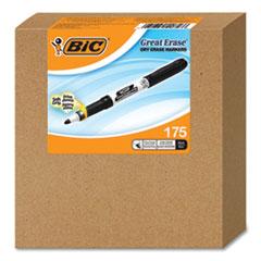 Great Erase Grip Dry Erase Marker, Fine Bullet Tip, Black, 175/CT