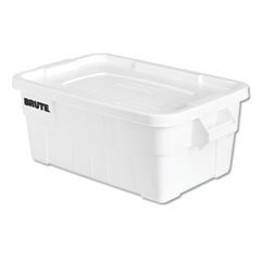 RCP 9S30WHIEA Rubbermaid Commercial BRUTE Tote with Lid RCP9S30WHIEA