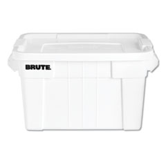 RCP 9S31WHIEA Rubbermaid Commercial BRUTE Tote with Lid RCP9S31WHIEA