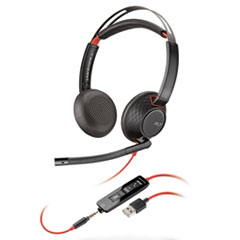 PLN C5220 Plantronics Blackwire 5200 Series Headset PLNC5220