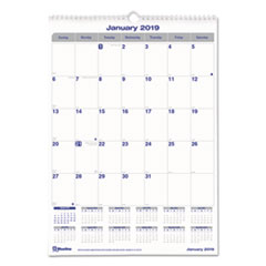 RED C171303 Blueline Net Zero Carbon Monthly Wall Calendar REDC171303