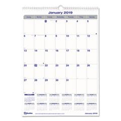 RED C171303 Blueline Net Zero Carbon Monthly Wall Calendar REDC171303