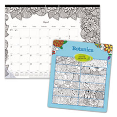 RED CA2917311 Blueline Monthly Desk Pad Calendar with Coloring Pages REDCA2917311