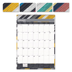 RED C173122 Brownline Twin Wirebound Wall Calendar, One Month per Page REDC173122