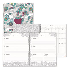 RED C291101 Blueline Doodleplan Weekly/Monthly Planner REDC291101
