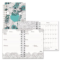 RED C291001 Blueline Doodleplan Weekly/Monthly Planner REDC291001