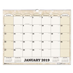 HOD 319 House of Doolittle 100% Recycled Monthly Horizontal Wall Calendar HOD319