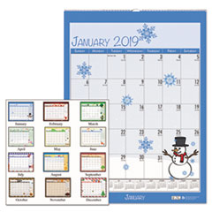 HOD 338 House of Doolittle 100% Recycled Seasonal Wall Calendar HOD338