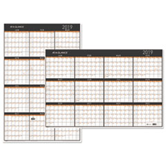 AAG PM26X28 AT-A-GLANCE Contemporary Two-Sided Yearly Erasable Wall Planner AAGPM26X28