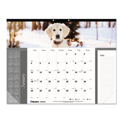 RED C194116 Brownline Pets Collection Monthly Desk Pad REDC194116