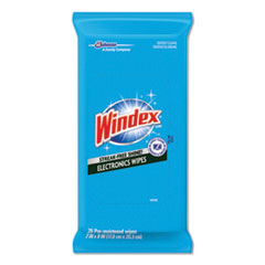 SJN 642517EA Windex Electronics-Cleaner Wipes SJN642517EA