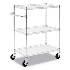 ALE SW333018SR Alera Three-Shelf Wire Cart with Liners ALESW333018SR