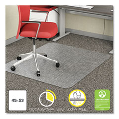 DEF CM11242COM deflecto EconoMat Occasional Use Chair Mat for Commercial Flat Pile Carpeting DEFCM11242COM