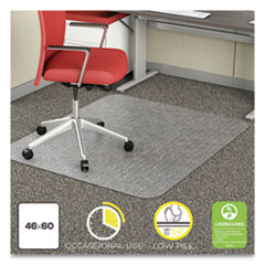 DEF CM11442FCOM deflecto EconoMat Occasional Use Chair Mat for Commercial Flat Pile Carpeting DEFCM11442FCOM