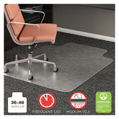 DEF CM15113 deflecto RollaMat Frequent Use Chair Mat for Medium Pile Carpeting DEFCM15113