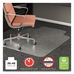 DEF CM15113COM deflecto RollaMat Frequent Use Chair Mat for Medium Pile Carpeting DEFCM15113COM