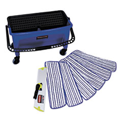 RCP Q050 Rubbermaid Commercial Microfiber Floor Finishing System RCPQ050
