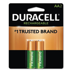 DUR NLAA2BCD Duracell Rechargeable StayCharged NiMH Batteries DURNLAA2BCD