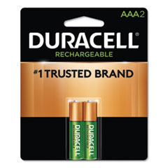 DUR NLAAA2BCD Duracell Rechargeable StayCharged NiMH Batteries DURNLAAA2BCD