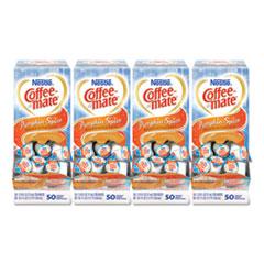 Liquid Coffee Creamer, Pumpkin Spice, 0.38 oz Mini Cups, 50/Box, 4 Boxes/Carton, 200 Total/Carton
