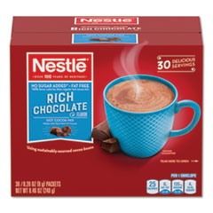 NES 61411 Nestle No-Sugar-Added Hot Cocoa Mix Envelopes NES61411