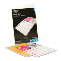GBC 3747308 GBC SelfSeal Self-Adhesive Laminating Pouches & Single-Sided Sheets GBC3747308