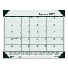 HOD 12471 House of Doolittle EcoTones 100% Recycled Monthly Desk Pad Calendar HOD12471