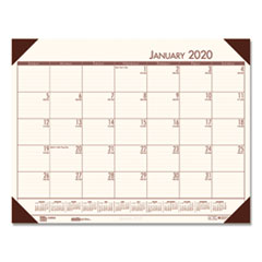 HOD 12441 House of Doolittle EcoTones 100% Recycled Monthly Desk Pad Calendar HOD12441