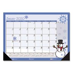 HOD 1396 House of Doolittle 100% Recycled Seasonal Desk Pad Calendar HOD1396