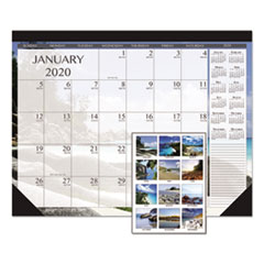 HOD 1386 House of Doolittle 100% Recycled Earthscapes Seascapes Desk Pad Calendar HOD1386