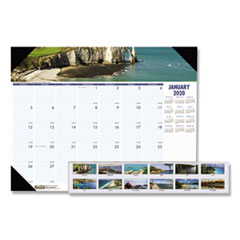 HOD 1786 House of Doolittle Earthscapes 100% Recycled Coastlines Monthly Desk Pad Calendar HOD1786
