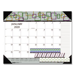 HOD 149 House of Doolittle 100% Recycled Geometric Desk Pad Calendar HOD149
