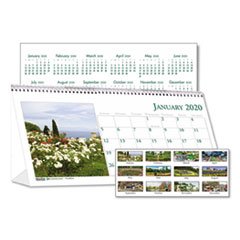 HOD 309 House of Doolittle Earthscapes 100% Recycled Garden Desk Tent Monthly Calendar with Photos HOD309
