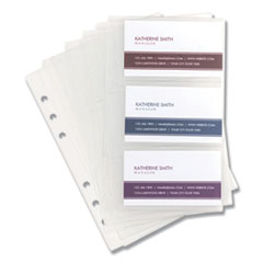 SAM 81079 Samsill Refill Sheets for Business Card Binders SAM81079
