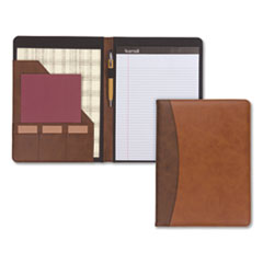 SAM 71656 Samsill Two-Tone Padfolio with Spine Accent SAM71656