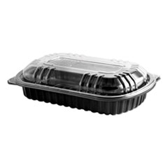ANZ 4401900 Anchor Packaging MicroRaves Rib Containers with Vented OPS Anti-Fog Lids ANZ4401900