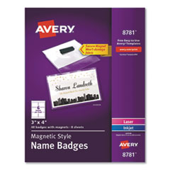 AVE 8781 Avery Magnetic Style Name Badge Kit AVE8781