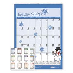 HOD 339 House of Doolittle 100% Recycled Seasonal Wall Calendar HOD339
