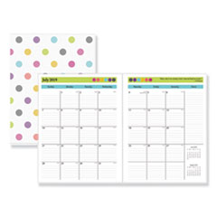 BLS 100336 Blue Sky Teacher Dots Academic Year Monthly Planner BLS100336