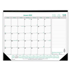 RED C177437 Brownline EcoLogix Monthly Desk Pad Calendar REDC177437