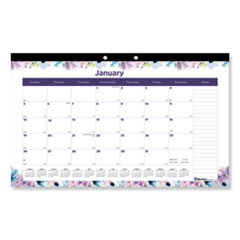 RED C195113 Blueline Passion Monthly Deskpad Calendar REDC195113