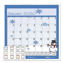 HOD 338 House of Doolittle 100% Recycled Seasonal Wall Calendar HOD338