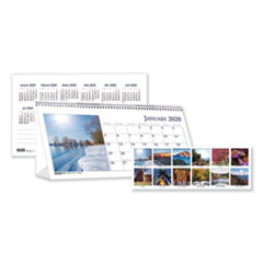 HOD 3649 House of Doolittle Earthscapes 100% Recycled Scenic Desk Tent Monthly Calendar with Photos HOD3649