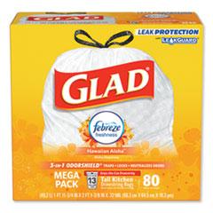CLO 78901BX Glad OdorShield Tall Kitchen Drawstring Bags CLO78901BX