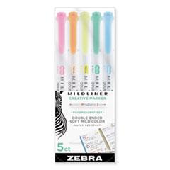 ZEB 78105 Zebra Mildliner Double Ended Highlighter ZEB78105